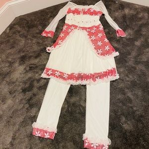 Two piece dress and pants Indian festival sequin